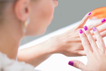 Woman with nail art