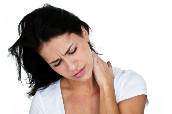 woman dealing with neck pain