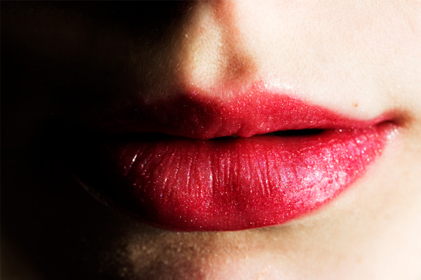 woman with plump lips
