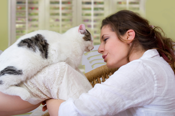 Woman with Senior Cat