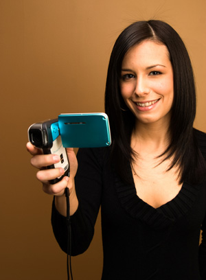 Woman with Home Video Camera