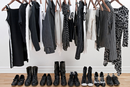 Woman's clothes on a rack