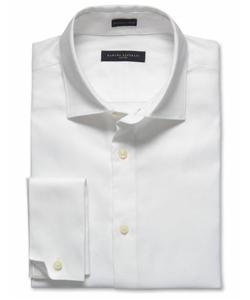 A man's white dress shirt or chambray shirt