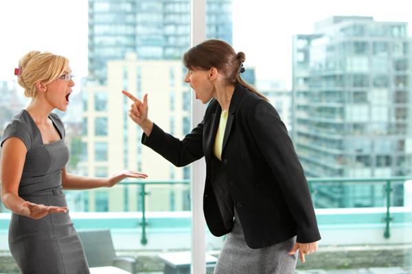 Women fighting in office