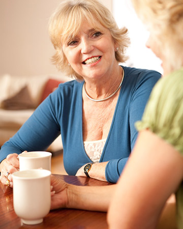 women chatting about menopause