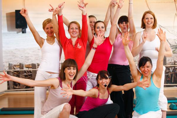 Women in aerobics class