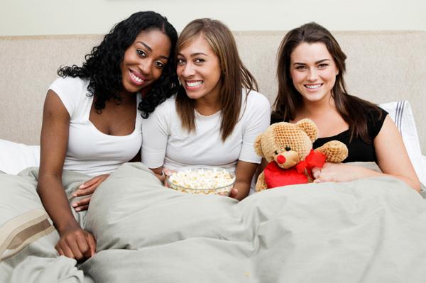 Women having sleepover