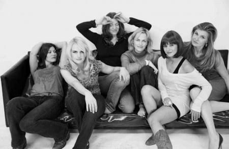 The cast of Women in Trouble including Carla Gugino