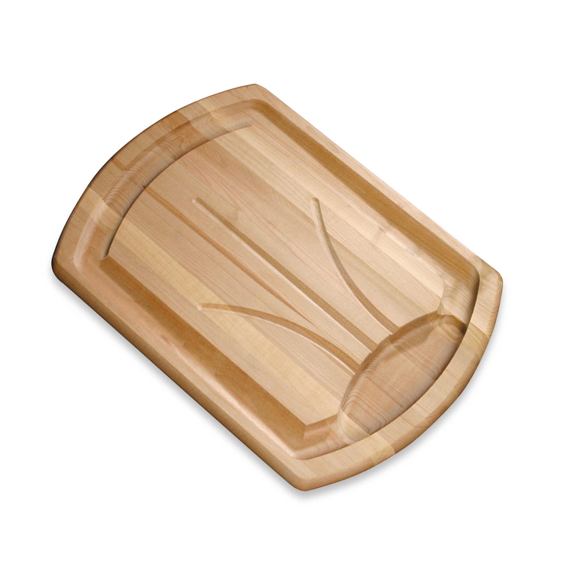 tri-drip wooden cutting board