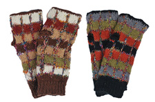 Wool and Recycled Silk Multi-color Arm Warmers