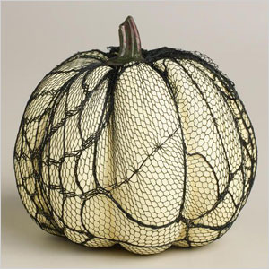 Lace covered pumpkin