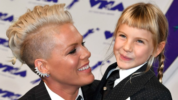 Pink and her daughter, Willow, smile