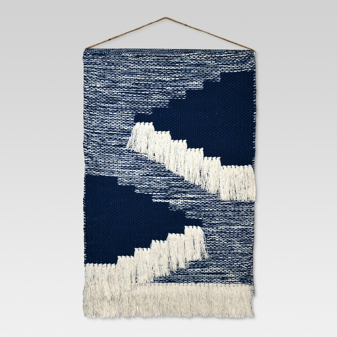 Woven wall hangings are neat, but they can be overdone