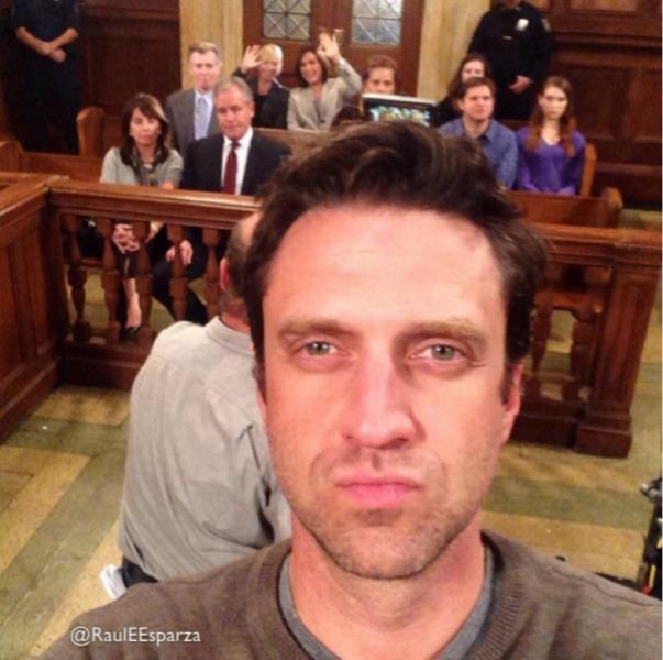 Raúl Esparza Law & Order: SVU selfie