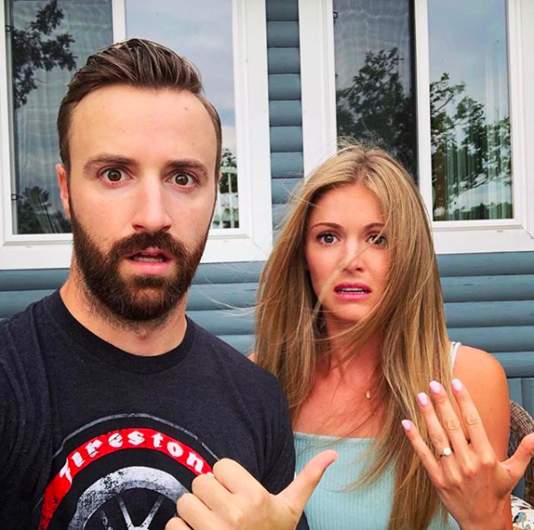 James Hinchcliffe and Becky Dalton engagement announcement