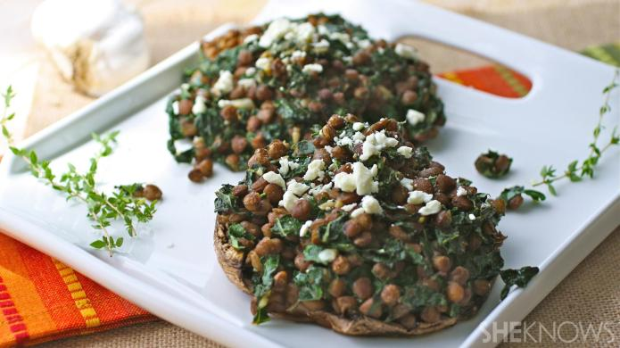 Meatless Monday: Garlicky lentil and kale-stuffed