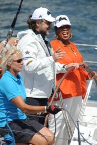 Oprah visits Australian stars