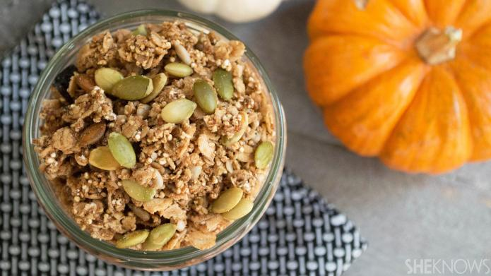 Pumpkin latte-flavored granola is an easy