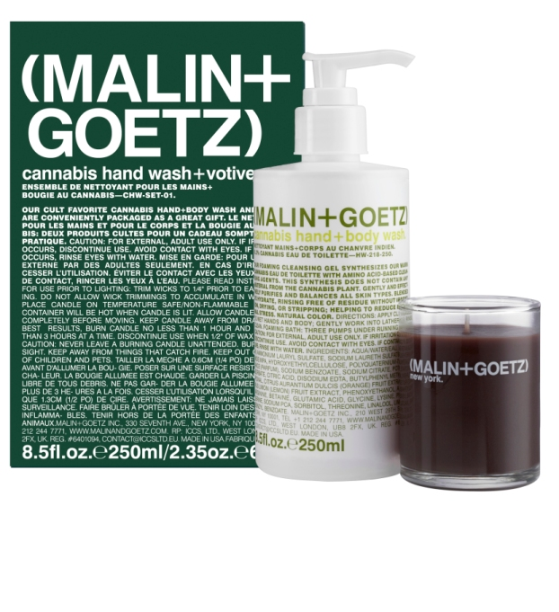 Beauty Products That Will Sell Out Fast This Holiday Season | Malin And Gotez Cannabis Hand Wash + Votive Set