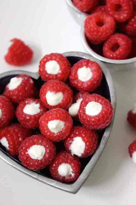 Yogurt Filled Raspberries