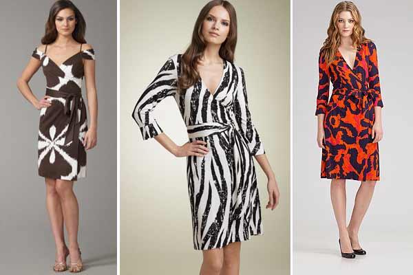 Women wearing wrap dresses
