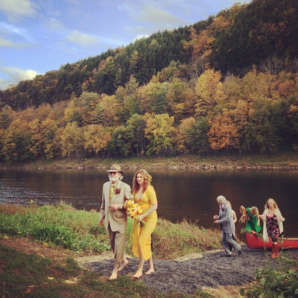 Celebrity Who Wore Unconventional Wedding Dresses: Amber Tamblyn | Celebrity Weddings