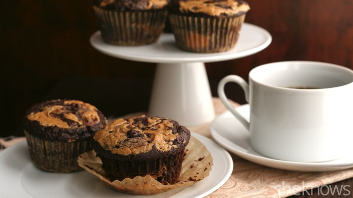 Chocolate peanut butter muffins are a