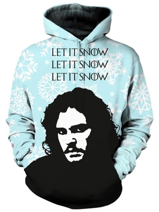 "Quirkiest Gifts from Your Favorite Pop Culture Shows: ""Let It Snow"" hoodie"