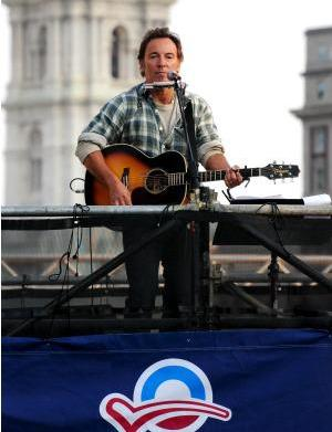 Exclusive Springsteen, Clinton campaign pics from