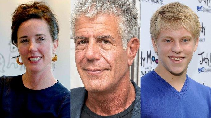 Kate Spade, Anthony Bourdain, Jackson Odell