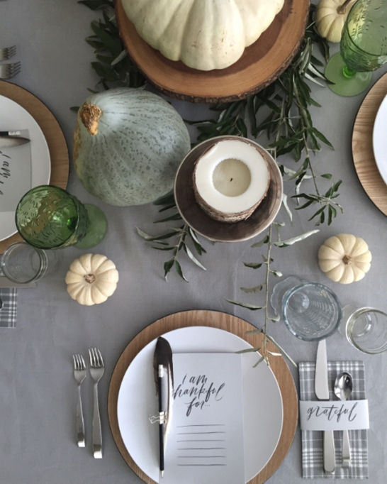 18 Homemade Thanksgiving Table Ideas That Even the DIY-Challenged Can Manage: Give thanks
