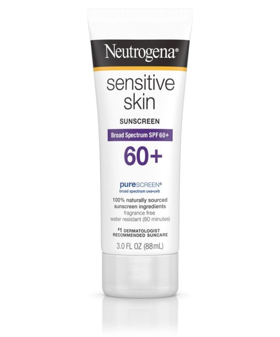 Neutrogena sensitive skin sunscreen, SPF 60+