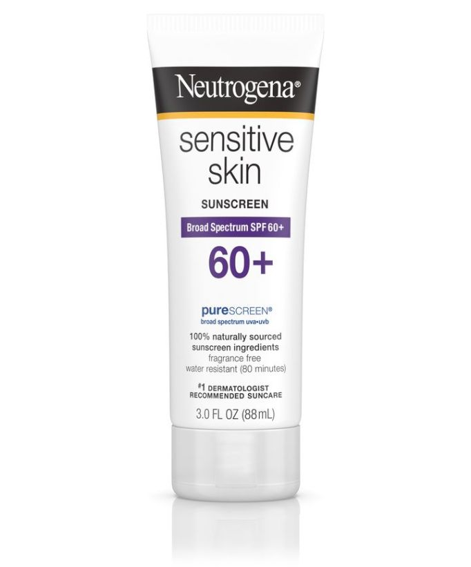 Neutrogena sensitive skin sunscreen, SPF 60+