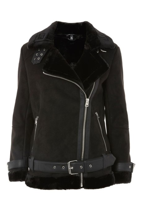 Perfect to Wear Shearling This Season | Biker shearling