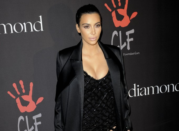 Kim Kardashian at a charity event