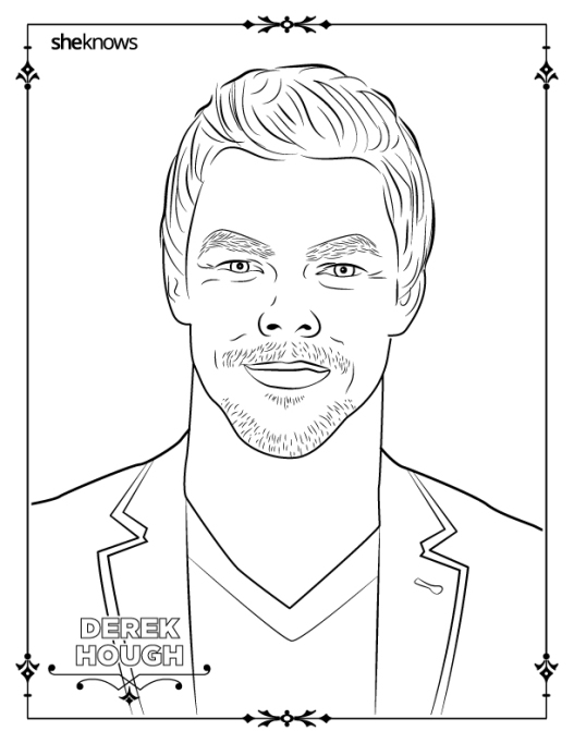 Derek Hough coloring-book page