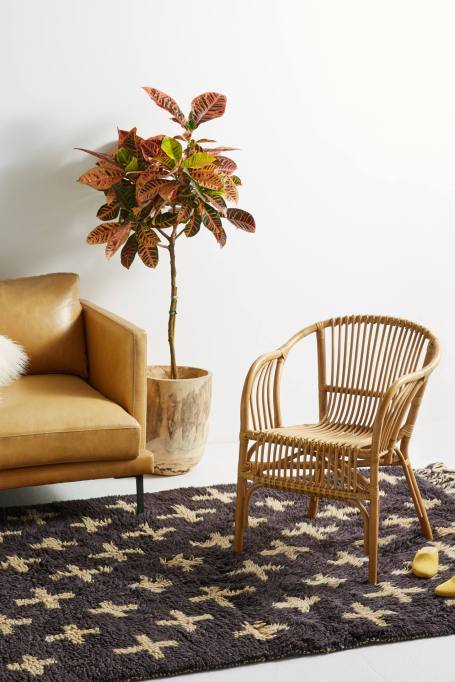 Modern Southwestern Decor: Add a rattan chair to your home