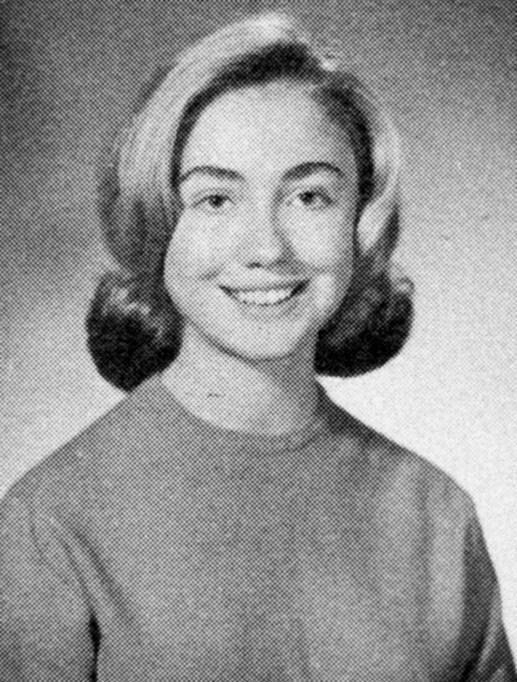 Hillary Rodham Clinton Yearbook Photo