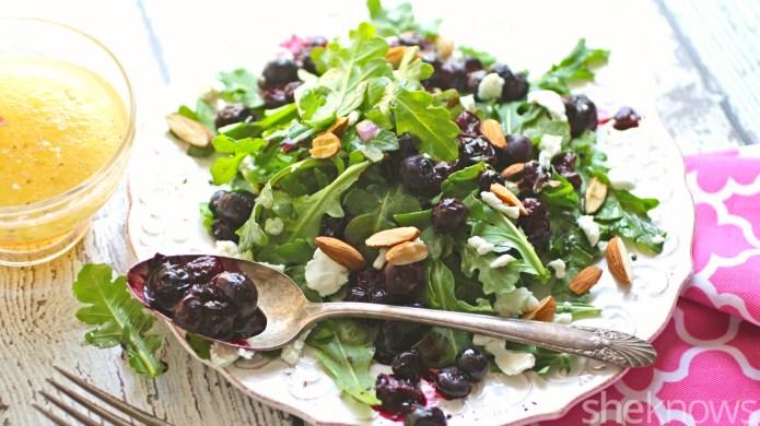 Meatless Monday: Roasted blueberry and arugula