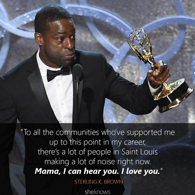 Sterling K. Brown Emmys speech