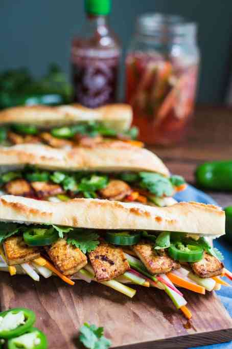 Summer sandwich recipe: a lighter take on a banh mi, this sandwich is made with tofu.