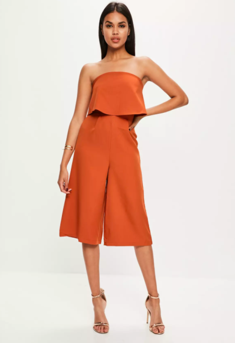 Jumpsuits You Need in Your Closet | Missguided Orange Layered Culottes Jumpsuit