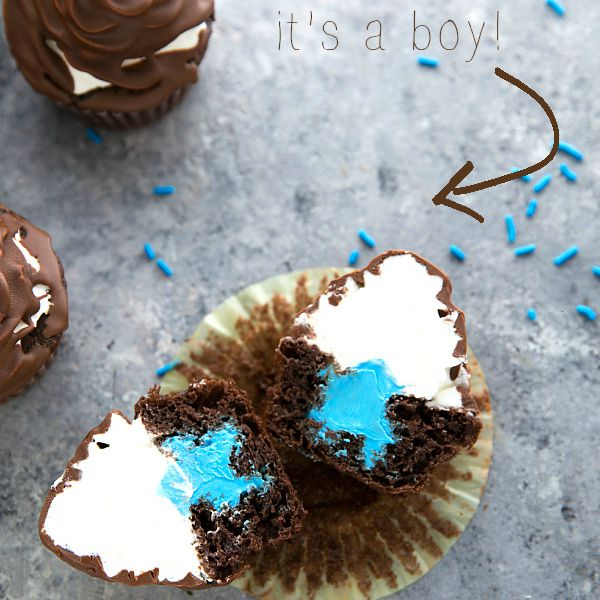Gender Reveal Party Ideas You'll Actually Want to Copy: Cupcakes, of Course