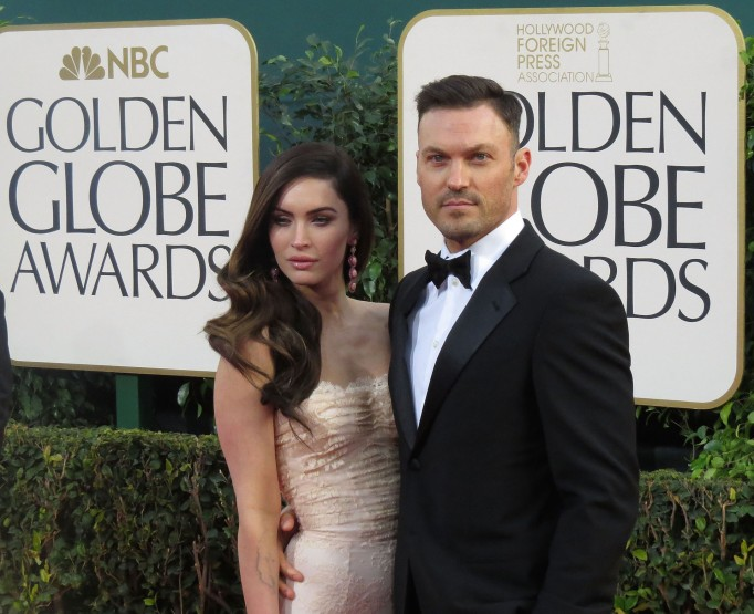 Megan Fox, Brian Austin Greene at the Golden Globes
