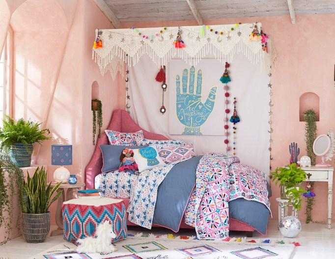 Justina Blakeney X PB Kids Is Every Tiny Bohemian's Dream: Magic Disco Caravan Room