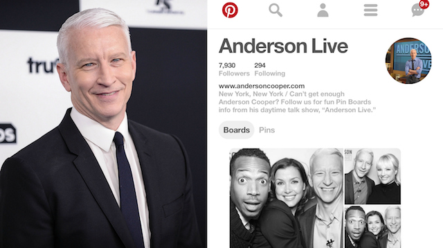 Celebs on Pinterest: Anderson Cooper