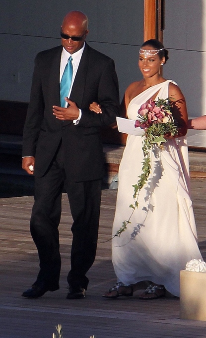 Alicia Keys and Swizz Beatz were married in the utmost discretion, in southern Corsica, Piantarella