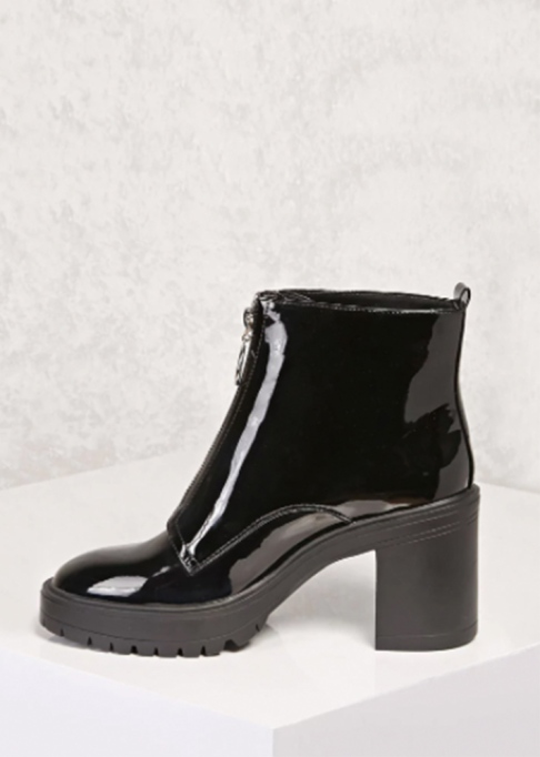 Fall Boots To Shop Before They Sell Out: Forever21 Faux Patent Ring Pull Boots | Fall Fashion Trends 2017
