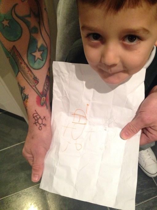 Kid's Star Wars tattoo