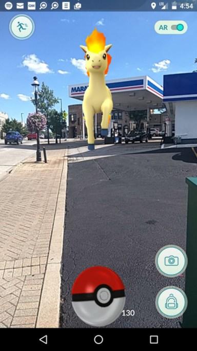 Pokémon at a gas station